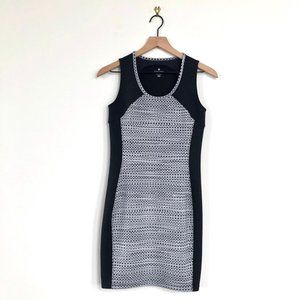 Athleta • Dot Fuse Black/Gray Stretch Dress